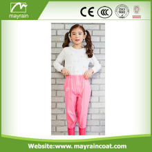 Waterproof PU Reflective Kids Rain Pants