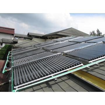 Non-pressurized solar collector for project