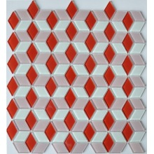 Colorful 3D glass mosaic tile