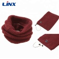 Knitted Neck Warmer Bluetooth scarf Headphones