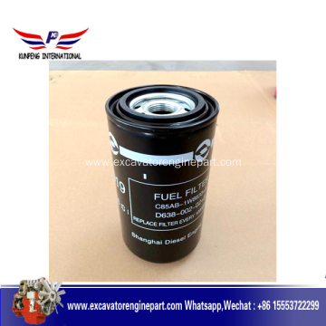 High Quality for Shanghai Diesel Shangchai D6114 Engine Parts Fuel Filter D638-002-02 supply to Peru Factory