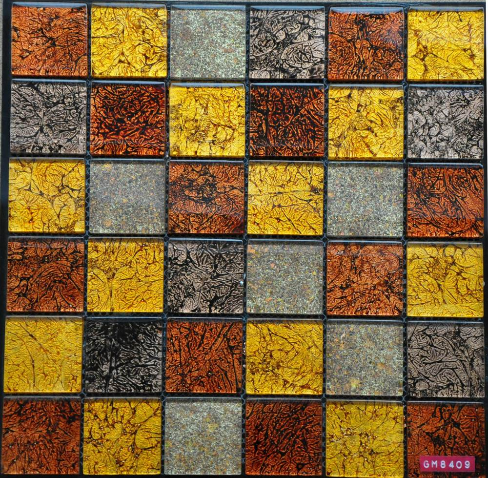 Luxury Golden Foil Glass Mosaic