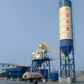 HZS25 advanced small capacity concrete batching plant Europe