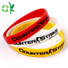 New Arrival China for Custom Printed Silicone Wristbands Fashional Style Logo Printed Epoxy Silicone Bracelet export to South Korea Manufacturers