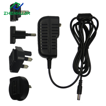 12V1.5A 18W Interchangeable Travel Plug Power Adapter
