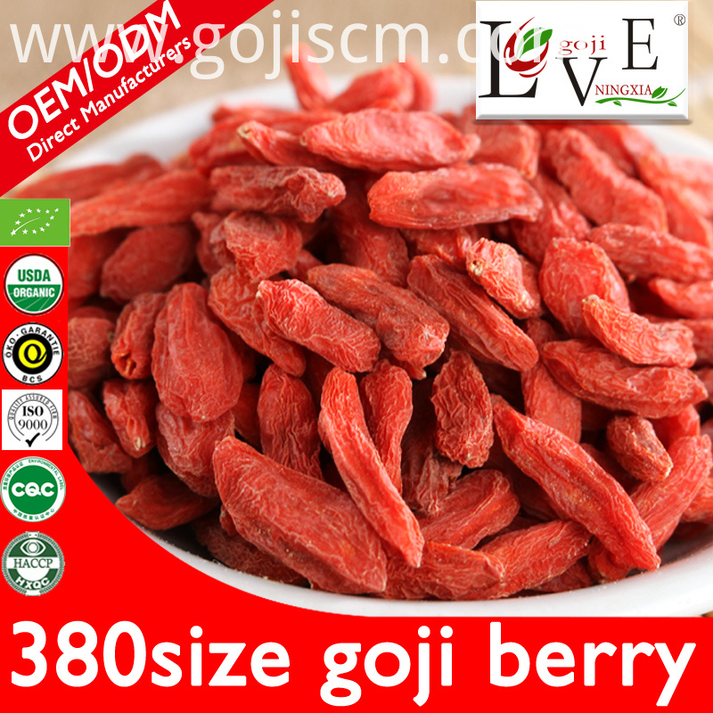 380size Pure Plump Goji Berries