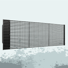 Best quality and factory for Led Video Curtain P25 Outdoor led video media facade screens supply to Indonesia Manufacturer