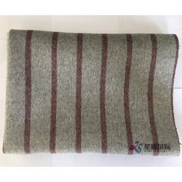 Red Vertical Stripe 100% Wool Fabric