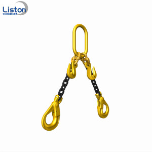 G80 Two Legs Lifting Chain sling with Hook