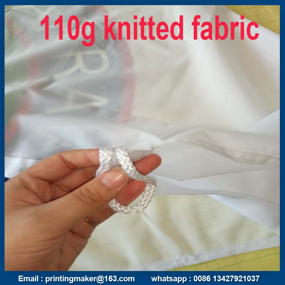 Custom 110 G Knitted Polyester Fabric Advertising Flags