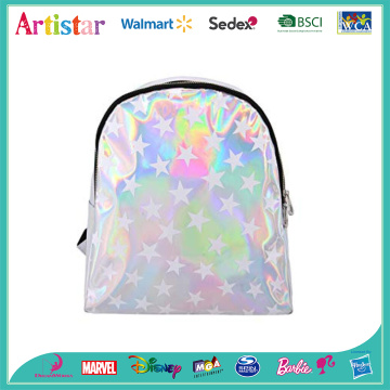 Star white laser backpack
