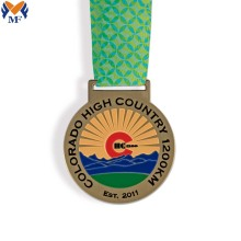 Custom round shape running and medals