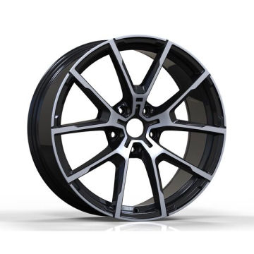 Matt Black Polished BMW Replica Wheel