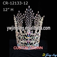 "12"" Large custom holiday pageant crowns for girls"