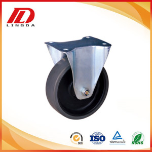 100mm rigid caster with pu wheel