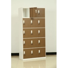 metal brown 15 door locker