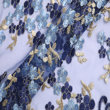 Good User Reputation for White Embroidered Lace Fabric,Embroidered Decorator Fabric,Spangle Embroidery Lace Fabric Manufacturers and Suppliers in China Hot Fashion Multicolor Lurex Thread Embroidery supply to Iceland Factory