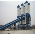HZS75 concrete mixing plant producing 75m3/h