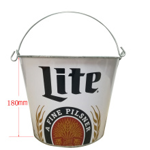China for Galvanized Ice Bucket Round bucket with oval handles supply to South Korea Supplier