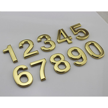 Brass House Numbers and Letters 2 inch Cursive Metal Letters