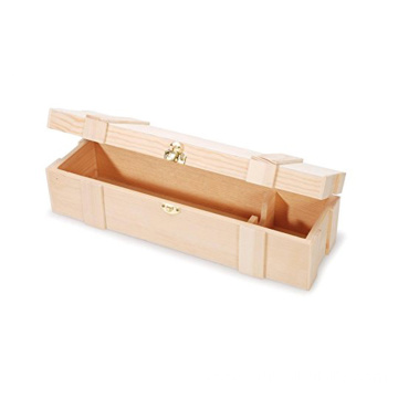 Factory Free sample for Single Bottle Wine Box Hinged Clasp Single Unfinished Wooden Wine Box supply to Cuba Wholesale