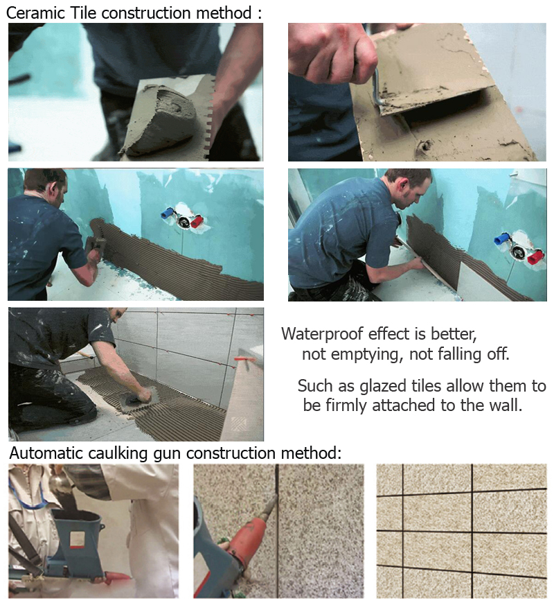 tile adhesive on concrete