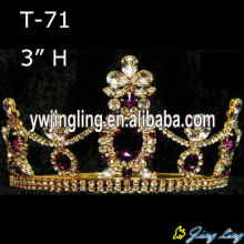 Rhinestone Flower Beauty Queen Crowns