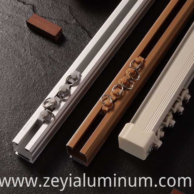 Powder Color Curtain Track Aluminum Profile