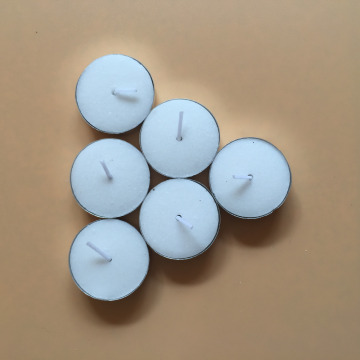 Unscented White Pure Wax Tealight Candles Bulk