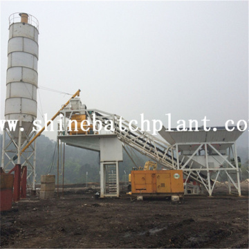 75 Good Performance Mobile Concrete Batching Plant