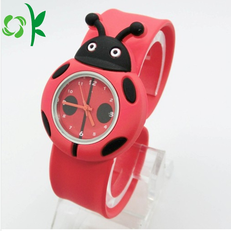Ladybird Slap Cartoon Bracelet With Watch 3