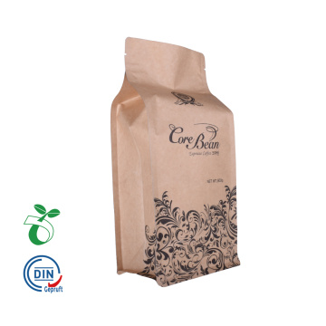 eco coffee bags with valve and ziplock