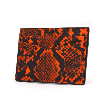 Hot Sale Fashion Snake Python Leather Card Holder