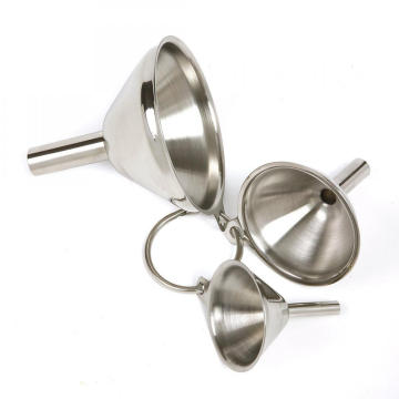 Leading for Stainless Steel Funnel Set Set of 3PCS Stainless Steel Funnel Strainer supply to Guam Factories