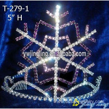 Cheap PriceList for Christmas Party Hats 5 Inch Snowflake Tiaras Christmas Pageant Crowns export to Gabon Factory