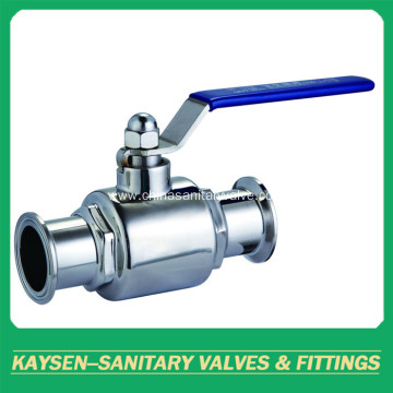 Sanitary Stainless Steel Direct Way Clamped Ball Valve