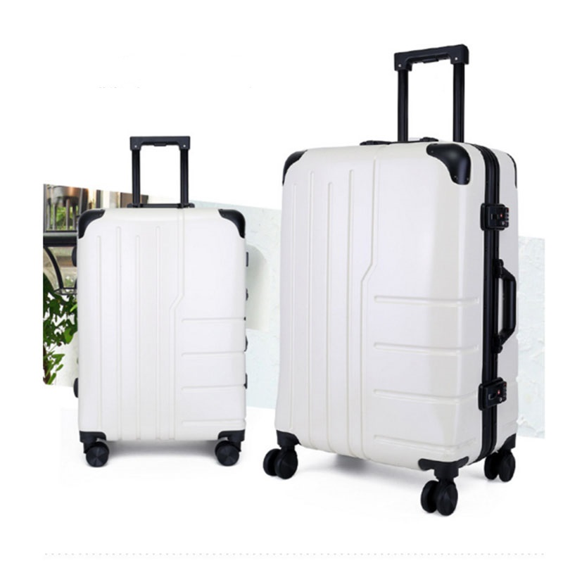 White luggage