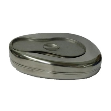 Medical stainless steel male bedpan product