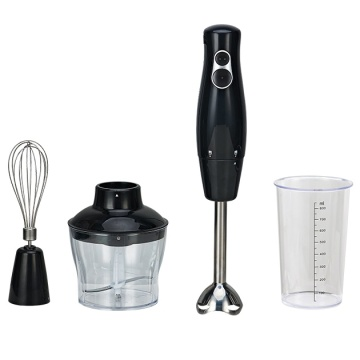 Hand held food processor immersion blender with whisk