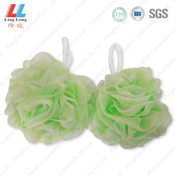 Flower bubble mesh sponge ball