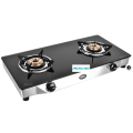 Astra 2 Brass Burners Toughened Glass Cooktop