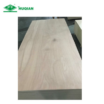 E1 Commercial Red Olive Veneer Plywood para sa Wardrobe