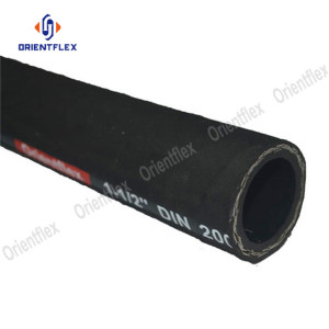 Steel wire braided flexible rubber hose