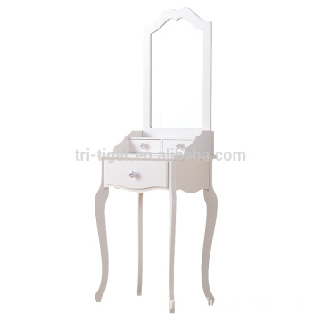Wooden White Drawer Mirrored Dressing Table Designs MakeUp Dresser