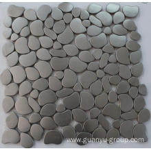 Silver color oval design stainless steel mosaic