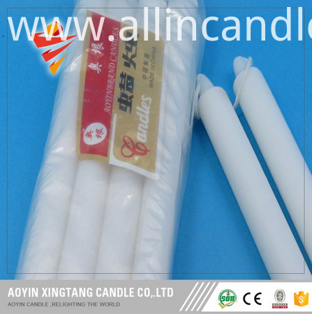 white flute candle