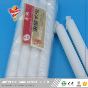 450g Big Long Burning White Fluted Candle