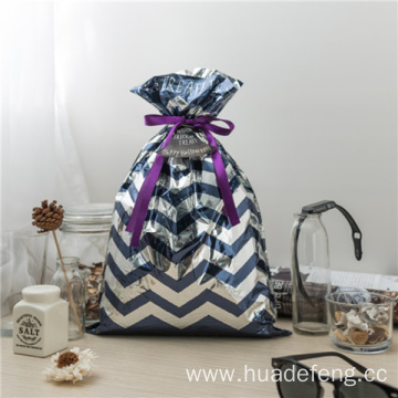Blue CPP Plastic Halloween Drawstring Gift Bags