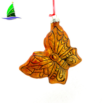 Customized Holiday  Glass Butterfly Ornament