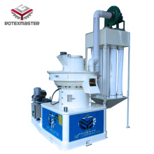 Efficient vertical ring die pellet machine